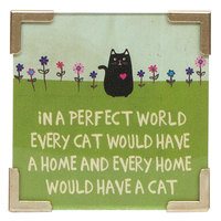 Natural Life: Corner Magnet - Perfect World Cat