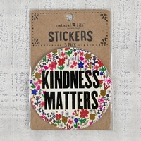 Natural Life: Set of 3 Stickers - Kindness Matters