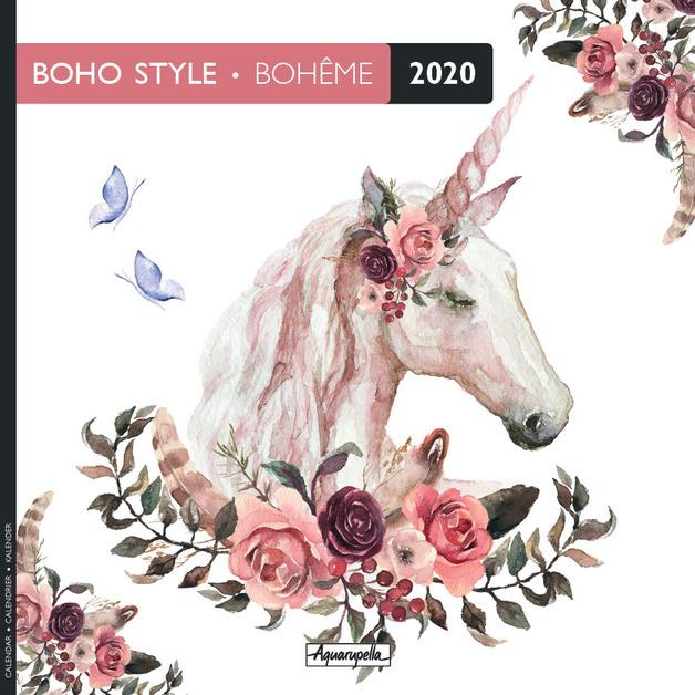 Aquarupella: 2020 Wall Calendar - Boho