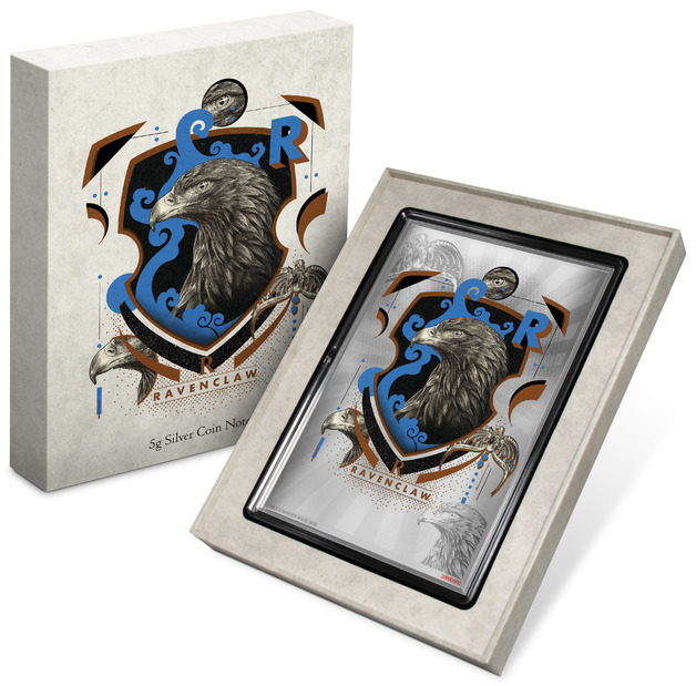 NZ Mint: Harry Potter - Silver Coin Note - Ravenclaw 2020 (5g Silver)
