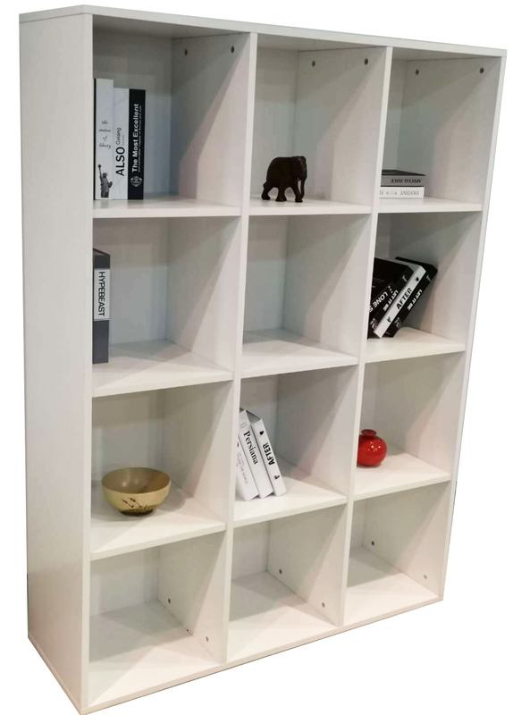 12 Cube Cubby in White