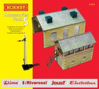 Hornby Accessories Pack 5 - Signal Box & Engine Shed