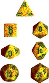 Chessex Speckled Polyhedral Dice Set - Lotus
