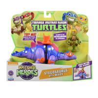 TMNT Half Shell Hero Figure & Vehicle - Stegosaurus with Mikey