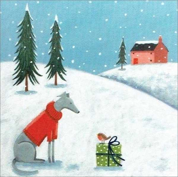 Archivist: Boxed Christmas Cards - Dog and Present