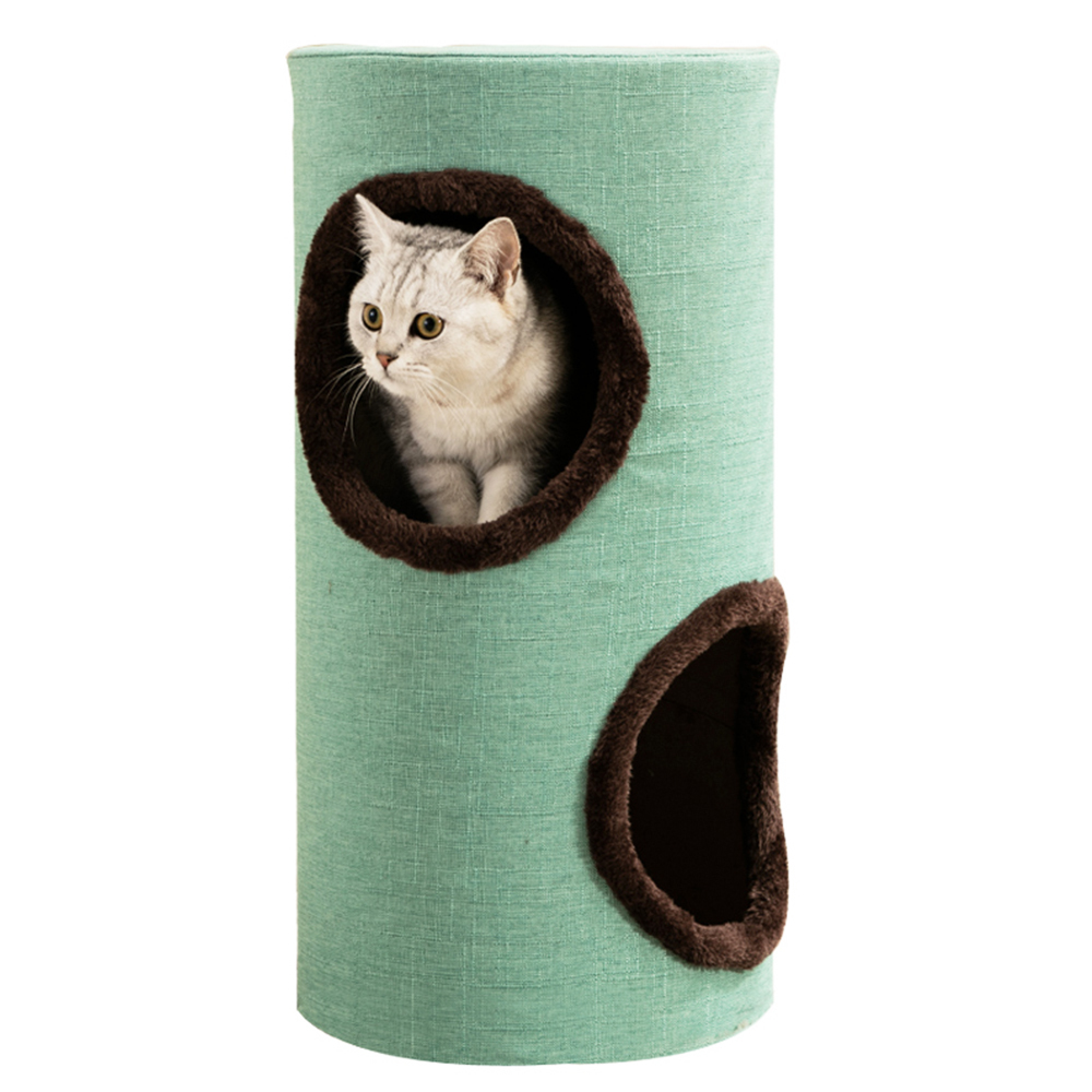 Gorilla: Cat Tower 60cm - Green / Brown image