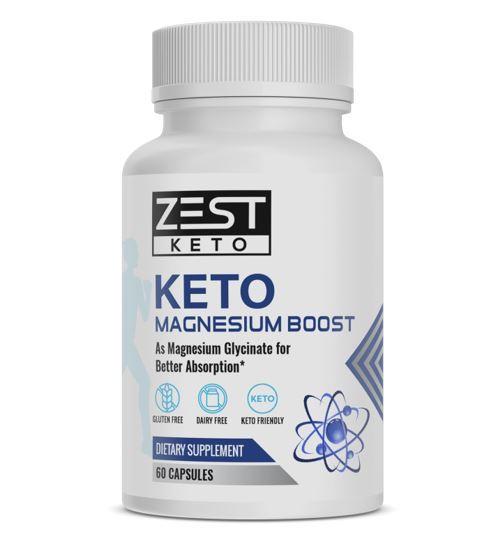 ZestKeto Magnesium Keto Boost with Glycinate (60 Caps)