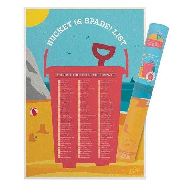 Bucket & Spade List - Scratchable Poster