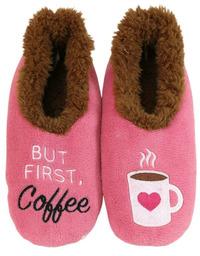 Slumbies But First Coffee Pairables Slippers (M)