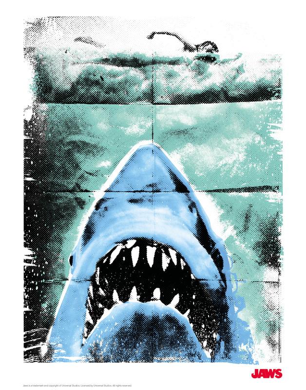 Jaws: Premium Art Print - Fred Birchal