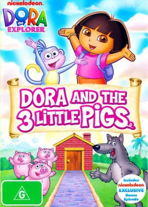 Dora The Explorer: Dora And The 3 Little Pigs on DVD