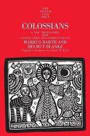 Colossians by Markus Barth image