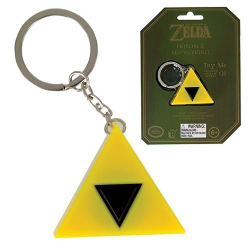 The Legend of Zelda - Tri-Force Light Key Chain