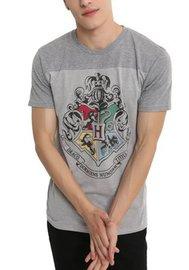 Harry Potter: Hogwarts Mens Yoke T-Shirt (Large)