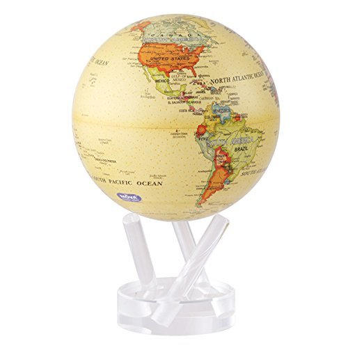 MOVA Self Rotating Globe Antique Beige - 11.5cm