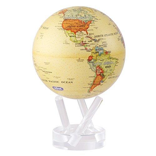 MOVA Self Rotating Globe Antique Beige - 11.5cm