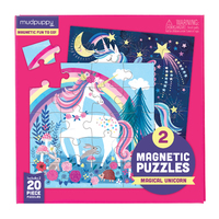 Mudpuppy: Magical Unicorn - Magnetic Puzzle