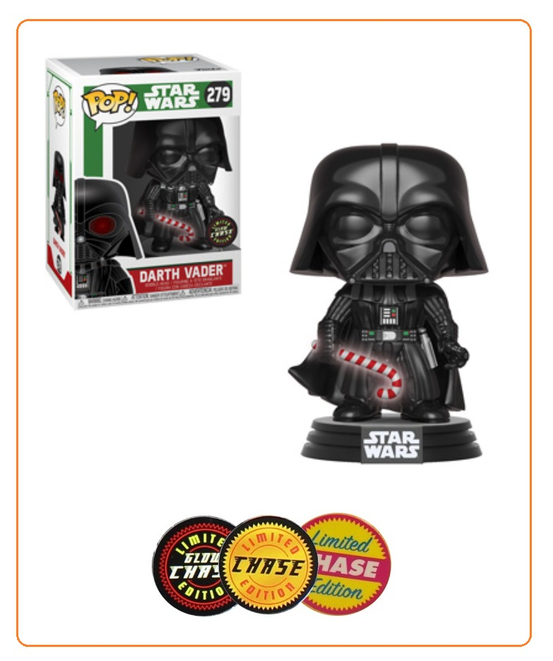 Star Wars: Holidays - Darth Vader (with Candy Cane) Pop! Vinyl Figure (with a chance for a Chase version!) image