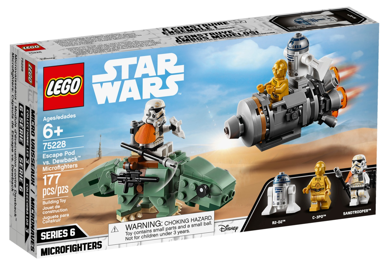 LEGO Star Wars: Escape Pod vs. Dewback - Microfighters (75228) image