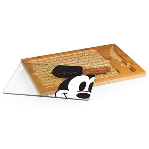 Mickey Mouse: Icon Glass Top Serving Tray and Knife Set