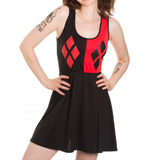 Harley Quinn A-Line Dress Slimfit (Medium)