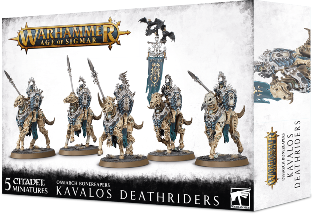 Warhammer Age of Sigmar: Ossiarch Bonereapers Kavalos Deathriders
