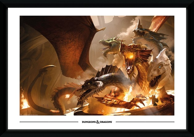 Dungeons and Dragons: Rise of Tiamat - Collector Print (50x70cm)