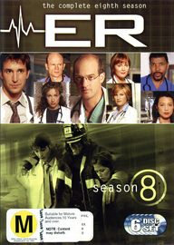 E.R. - The Complete 8th Season (6 Disc Set) on DVD image