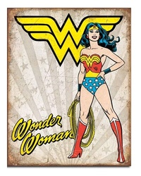 DC Comics: Wonder Woman Heroic - Retro Tin Sign