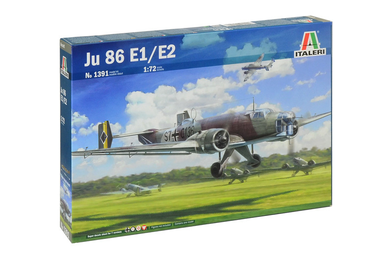 Italeri 1/72 JU-86 E-1/E-2 - Model Kit image