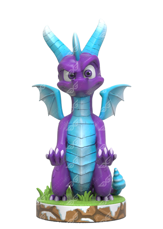 Cable Guy Controller Holder - Spyro Ice for PS4