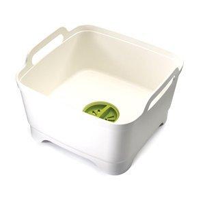 Joseph Joseph: Wash & Drain Washing Up Bowl - White/Green