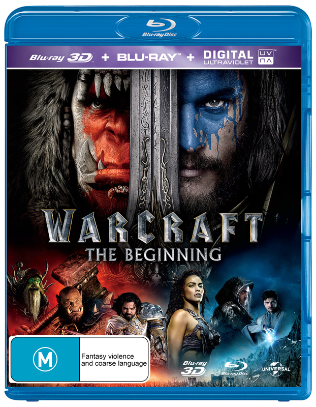 Warcraft: The Beginning on Blu-ray, 3D Blu-ray, UV