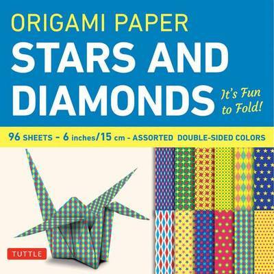 """Origami Paper Stars and Diamonds 6"""" - 96 Sheets"""