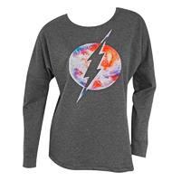 DC Comics: Flash Logo - Drop Shoulder Pullover (Medium)