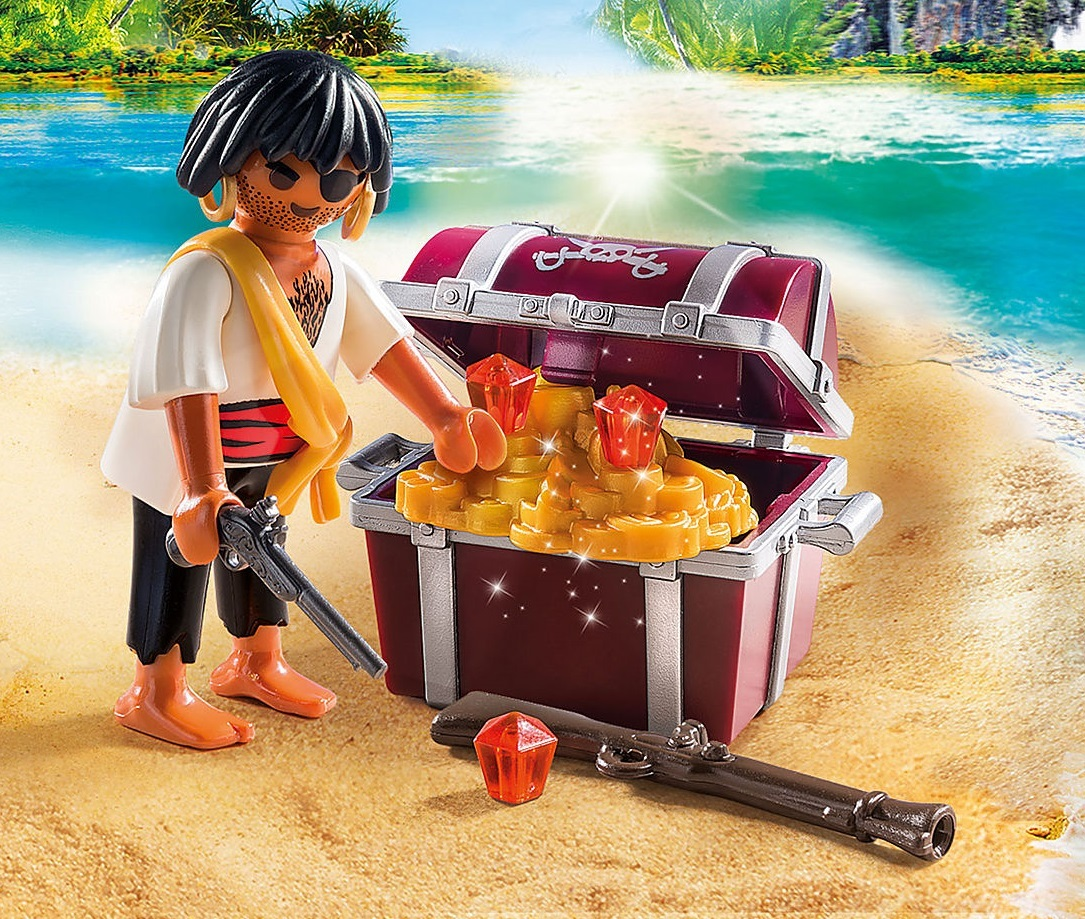 Playmobil: Special Plus - Pirate with Treasure Chest (9358) image