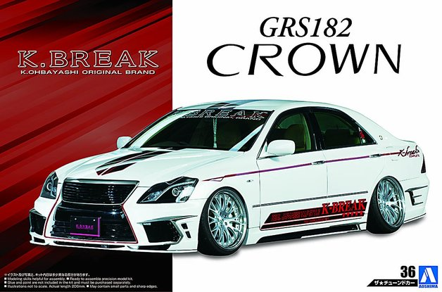 Aoshima: 1/24 Toyota K-Break Hyper Zero Custom GRS182 Crown '03 - Model Kit