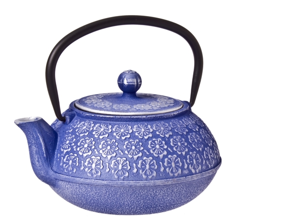 Purple Cherry Blossom Cast Iron Teapot (900ml)