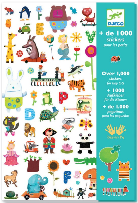 Djeco: Design - 1000 Stickers for Little Ones