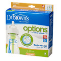 Dr Brown's 270ml Options Feeding Bottle with Level 1 Teat - Wide Neck - 3 Pack