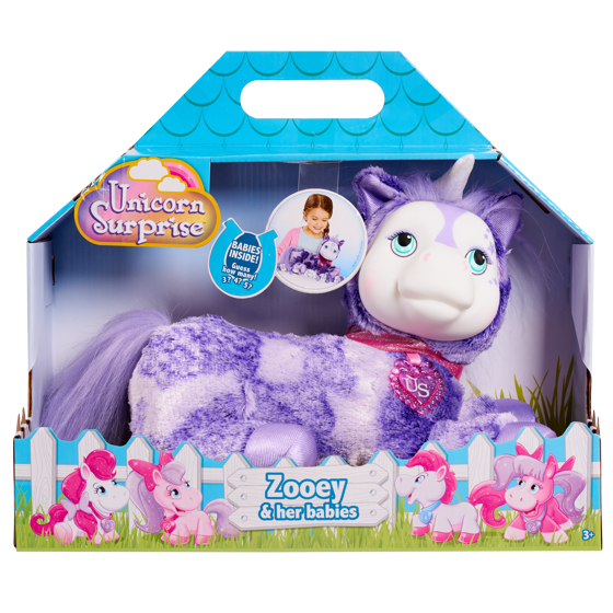 Unicorn Surprise: Plush Playset - Zooey & Her Babies