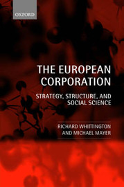 The European Corporation by Richard Whittington image