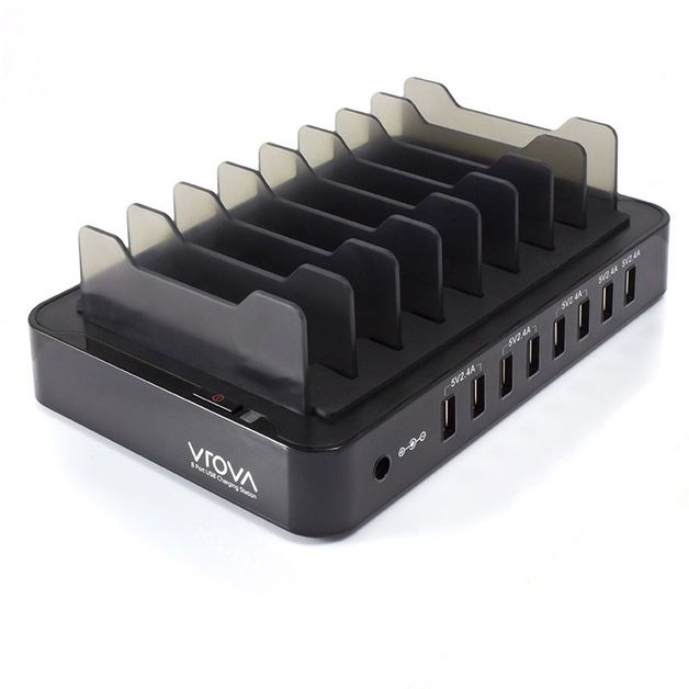 Alogic Vrova 8 Bay USB Desktop Charging Station - 12A/5V Output