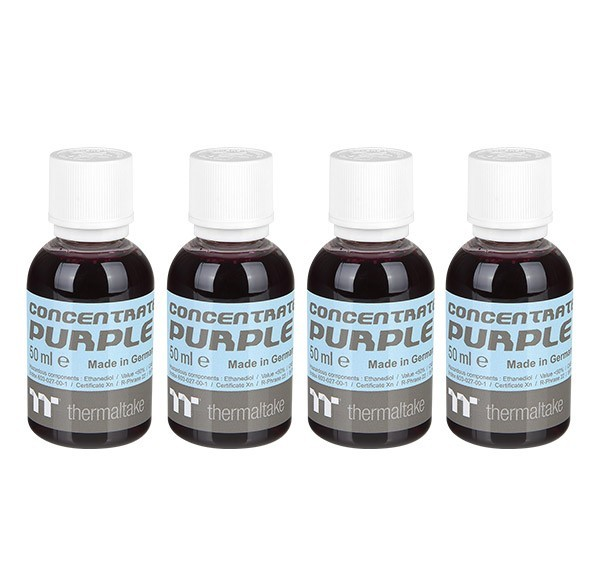 Thermaltake: Premium Contentrate Coolant - Purple (50ml) 4 Pack image