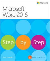 Microsoft Word 2016 Step By Step by Joan Lambert