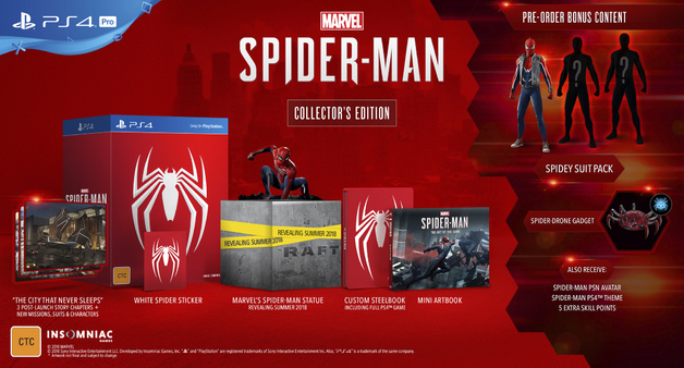 Spider-Man Collector's Edition for PS4