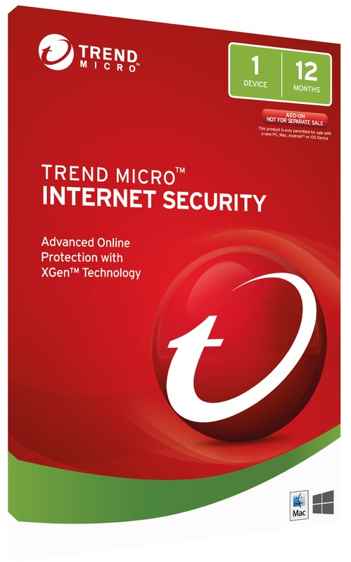 Trend Micro: Internet Security - (1 Device) 1 Year OEM (No CD Media)