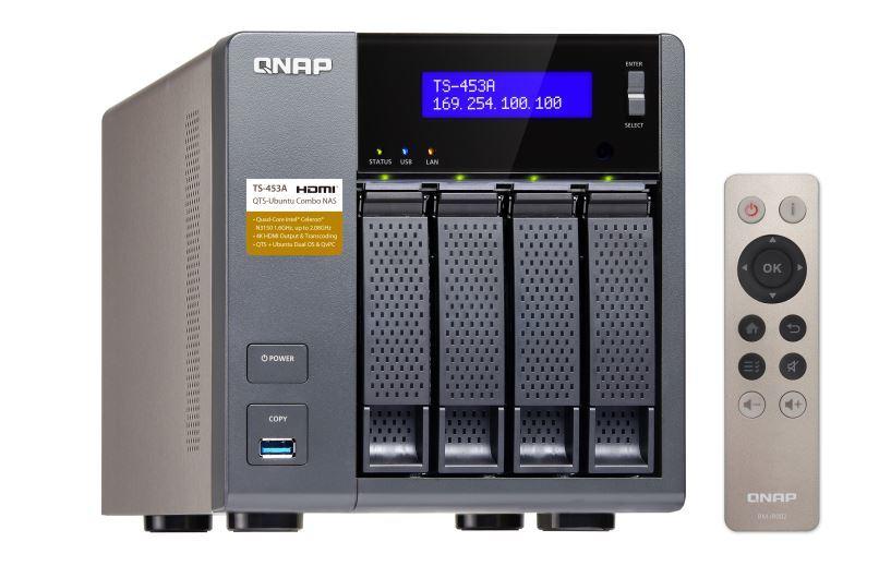 Qnap Ts-453A-4G, Nas, 4Bay (No Disk), 4Gb, Cel Qc-1.6Ghz, Usb, Gbe(4), Twr, 2Yr image