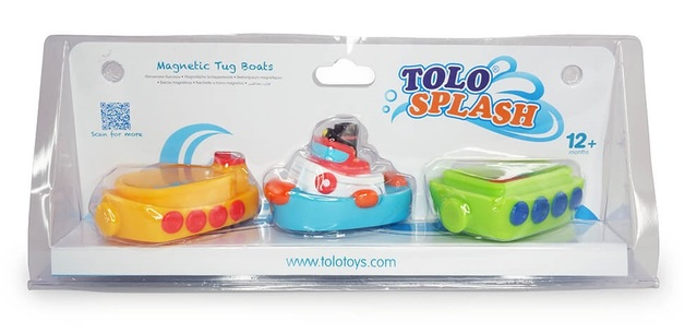 Tolo Toys: Magnetic Bath Tug Boat Set
