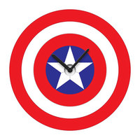 Captain America's Shield - Wobble Wall Clock